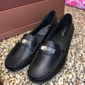 Black Coach loafers NIB